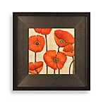 Poppy Wall Art in Orange