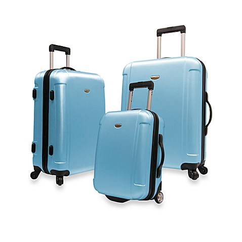 Traveler's Freedom 3-Piece Hardside Spinner Luggage Set in Blue
