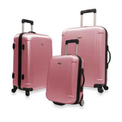 Traveler's Freedom 3-Piece Hardside Spinner Luggage Set in Pink