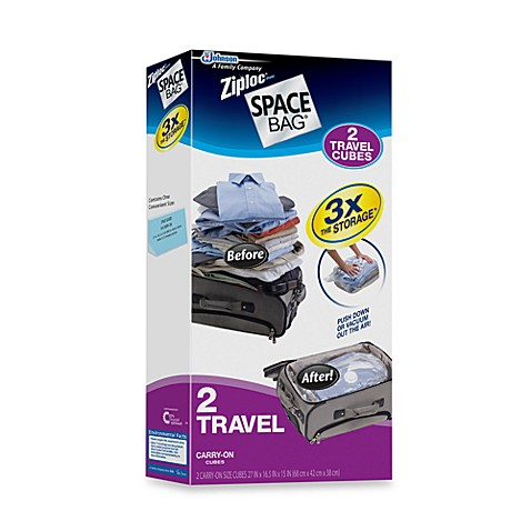 Ziploc® Space Bag® 2-Piece To Go Travel Cube Carry-On Space Saver Set