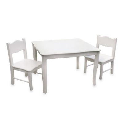 Classic White Table and Chairs 3-Piece Set