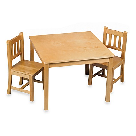 Honey Oak Mission Style Table and Chairs 3-Piece Set