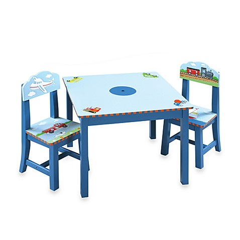 Transportation Table and Chairs 3-Piece Set