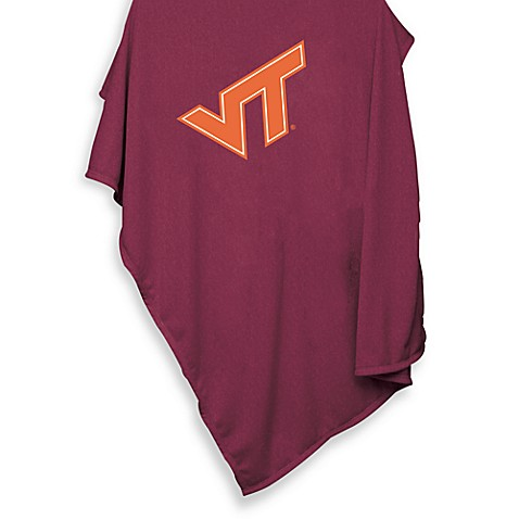 Virginia Tech 84-Inch x 54-Inch Sweatshirt Throw Blanket