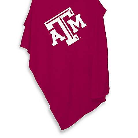 Texas A & M University 84-Inch x 54-Inch Sweatshirt Throw Blanket