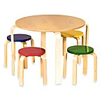 Guidecraft Nordic Table Set With Colored Chairs
