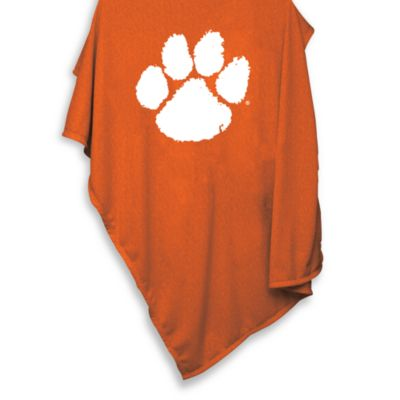 Clemson University 54-Inch x 84-Inch Sweatshirt Throw Blanket