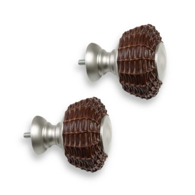 Cambria® Outdoor Living® Brushed Nickel Wicker Finials