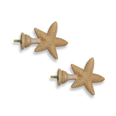 Cambria Complete Matte Starfish Finials (Set of 2)