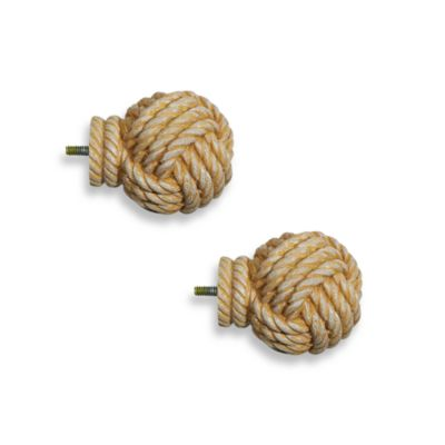 Cambria Complete Matte Knotical Finials (Set of 2)