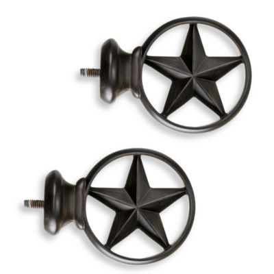 Cambria® Complete Bronze Texas Star Finials (Set of 2)