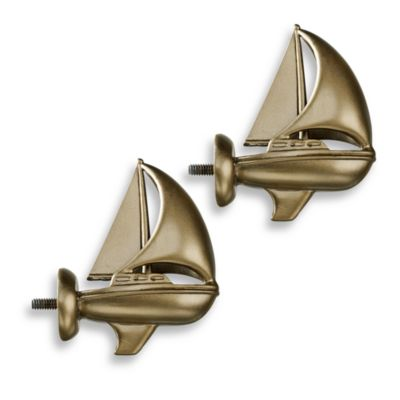 Cambria Complete Brass Boat Finials (Set of 2)