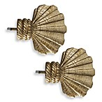 Cambria Complete Brass Shell Finials (Set of 2)