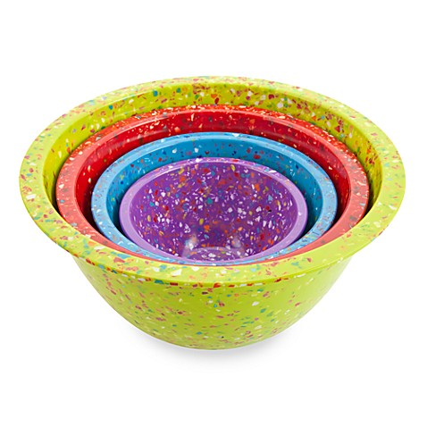 Zak! Designs® Confetti 4-Piece Assorted Mixing Bowl Set in Kiwi