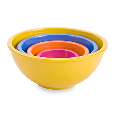 Zak Designs® Colorways 4-Piece Assorted Mixing Bowl Set in Yellow