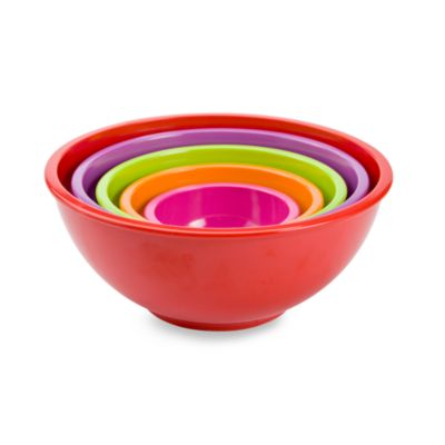 Zak! Designs® Colorways 5-Piece Assorted Mixing Bowl Set in Red
