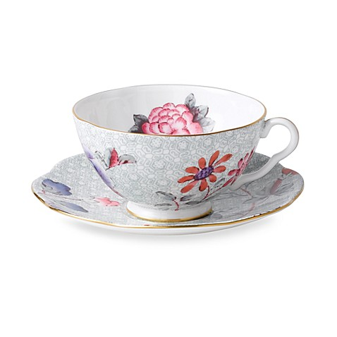 Wedgwood® Harlequin Cuckoo Teacup & Saucer in Green