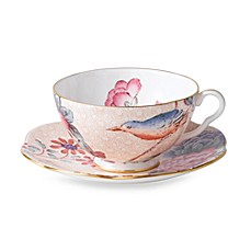 Wedgwood® Harlequin Cuckoo Teacup & Saucer in Peach