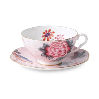 Wedgwood® Harlequin Cuckoo Teacup & Saucer in Pink