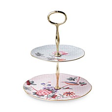 Wedgwood® Harlequin Cuckoo 2-Tier Cake Stand