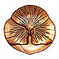 Red Pomegranate 8 1/2-Inch Pansy Spun Glass Plate in Antique Gold/Red