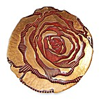 Red Pomegranate 8-Inch Rose Spun Red/Gold Side Plate
