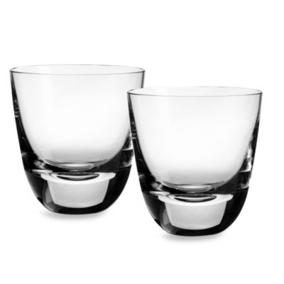 Villeroy & Boch American Bar 3 1/2-Inch Straight Bourbon Cocktail Tumbler (Set of 2)