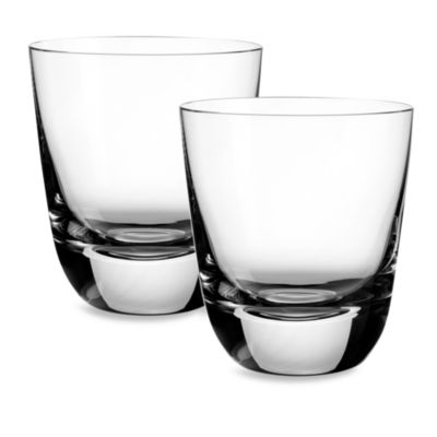 Villeroy & Boch American Bar 4-Inch Straight Bourbon Old Fashioned Tumbler (Set of 2)