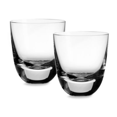 Villeroy & Boch American Bar 4 1/2-Inch Straight Bourbon Double Old Fashioned Tumbler (Set of 2)