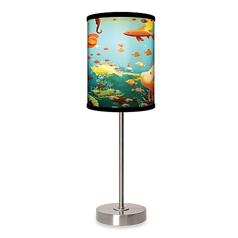 Aquarium Table Lamp with Brushed Nickel Base