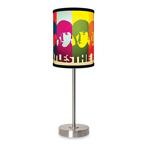 Beatles Faces Table Lamp with Brushed Nickel Base