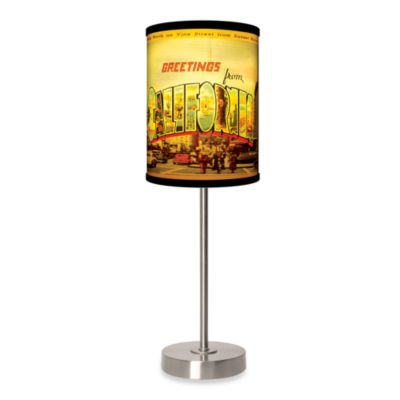Lamp-In-A-Box California Table Lamp with Brushed Nickel Base