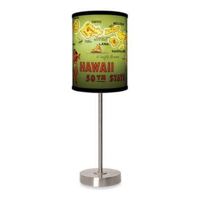 Lamp-In-A-Box Hawaii Table Lamp with Brushed Nickel Base