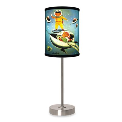 Jack & Jill Space Kids Table Lamp with Brushed Nickel Base