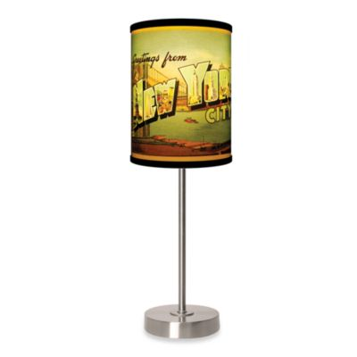 Lamp-In-A-Box New York City Table Lamp with Brushed Nickel Base
