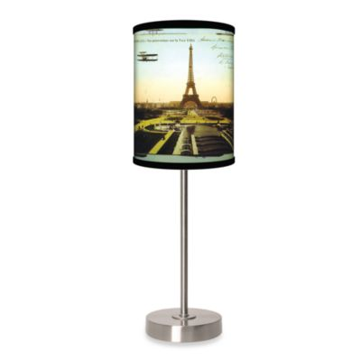 Lamp-In-A-Box Eiffel Tower Table Lamp with Brushed Nickel Base