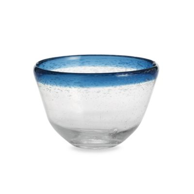 Circleware Large Blue Rimmed Salad Bowl