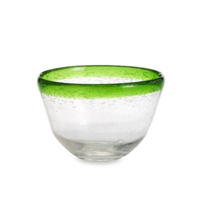 Circleware Large Green Rimmed Salad Bowl