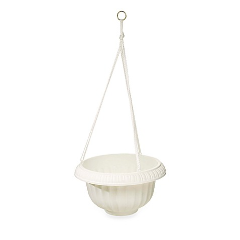 Stone Grecian Hanging Basket in 12-Inch Diameter