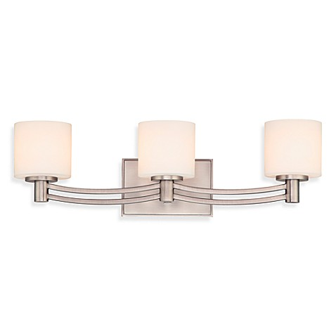 Quoizel®  Perry 3-Light Bath Fixture in Nickel