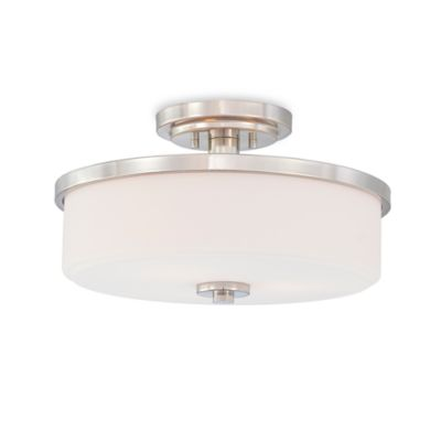 Quoizel® Massena 3-Light Medium Semi Flush Mount Fixture
