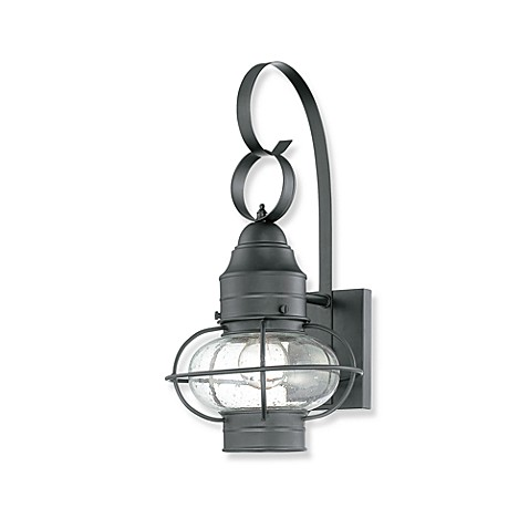 Quoizel Cooper Outdoor Small Wall Lantern in Mystic Black