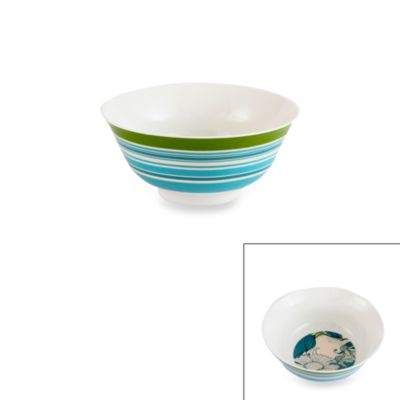 Prima Donna Designs Inside Out 6-Inch Stripe Porcelain Bowl