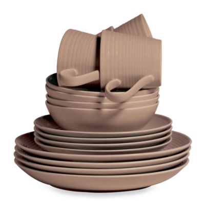 Royal Doulton® Gordon Ramsay Maze 16-Piece Dinnerware Set in Taupe