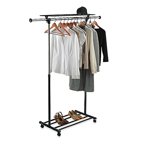 Portable collapsible chair - Portable Amp Adjustable Garment Rack Www Bedbathandbeyond Com
