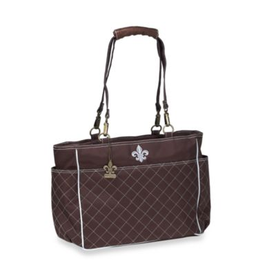 Kalencom N'Orleans Diaper Bag in Chocolate/Blue