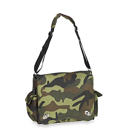 Kalencom Sam's Messenger Diaper Bag in Duck Duck Goose