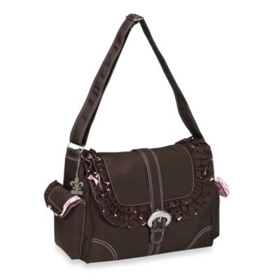 Kalencom Miss Prissy Diaper Bag in Pink/Chocolate