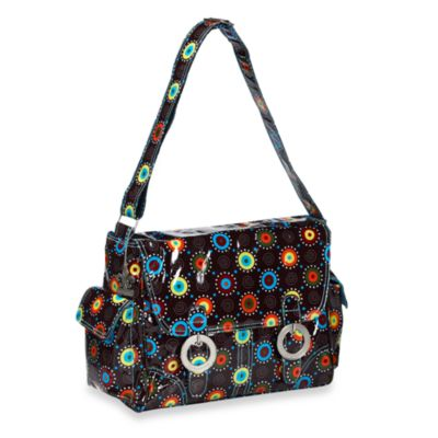 Kalencom Coated Double Buckle Diaper Bag in Doodle Bugs