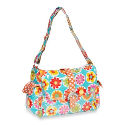 Kalencom Laminated Single Buckle Diaper Bag in Big Daisy
